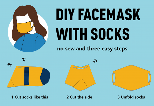 How To Create a Face Mask From a Sock